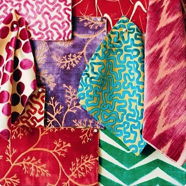 Genevieve Trousdale designs with an array fabrics from suppliers